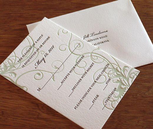 Carmel Wedding Response Card Invitation Design Carmel Floral