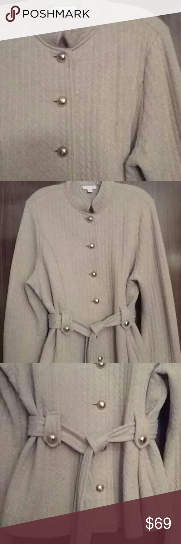Charter Club Sweater Jacket Light tan sweater jacket from Charter ...