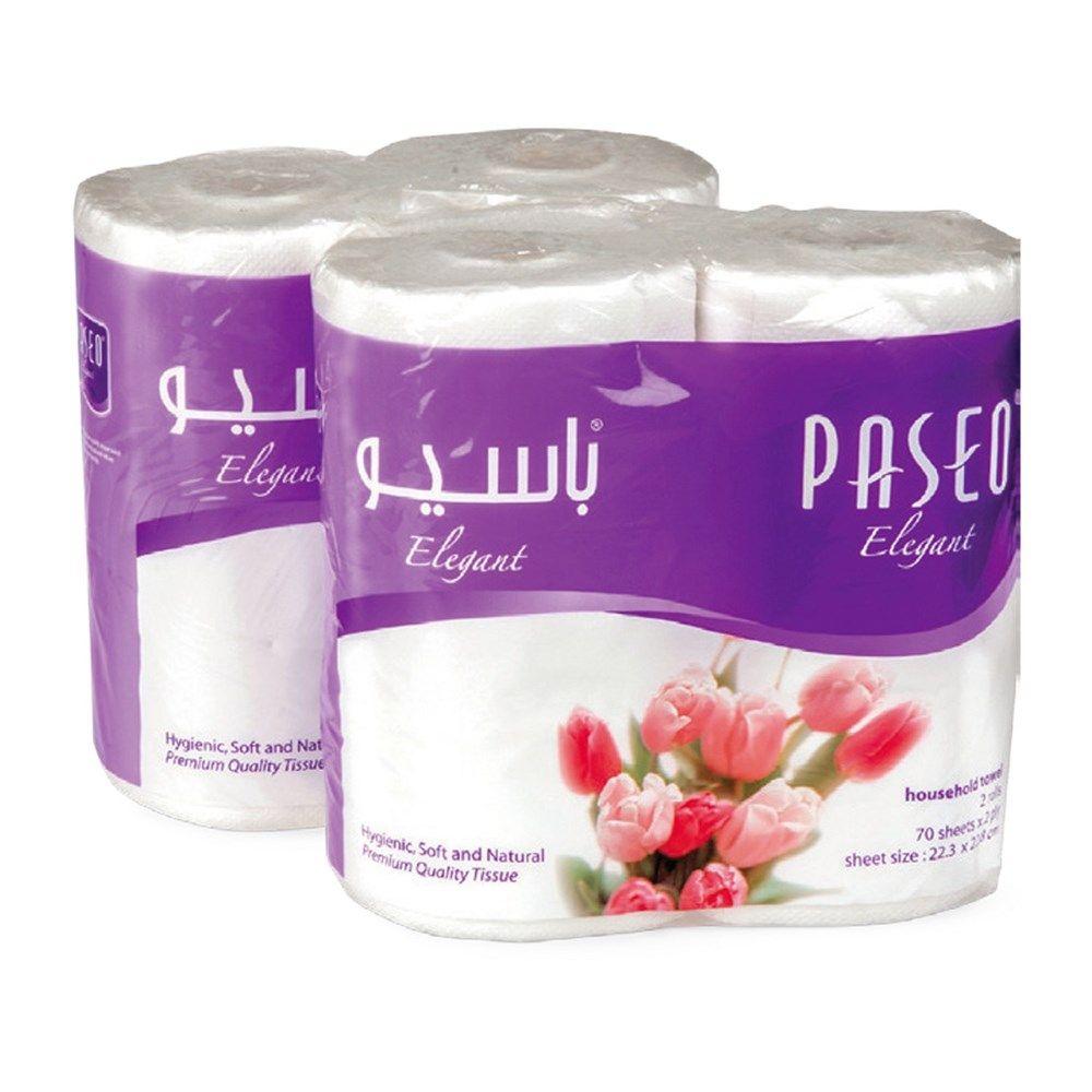 Buy Paseo Kitchen Roll White 2s X 2 Online In UAE, Dubai