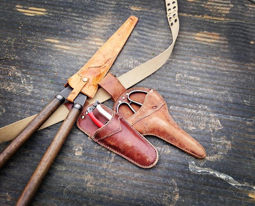 工具や剪定鋏のサックも。 #leathercraft