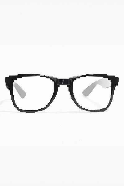 Matrix Pixelated Clear Horn Rimmed Glasses Glasses Types Of Fashion Styles Prescription Lenses
