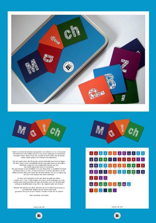 Jonge kinderen zijn gek op letters. En op spelletjes. Match is een kleurrijk vormgegeven, educatief spel en heel geschikt voor kinderen om het alfabet te leren kennen. Match bestaat uit 80 kaartjes. Op elk kaartje is een letter uit het alfabet...