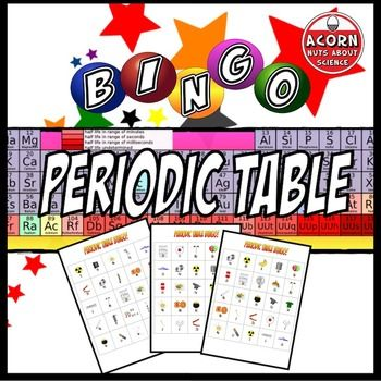 Periodic table bingo periodic table activities and chemistry periodic table bingo bingo like its never been played before this is a great urtaz Gallery