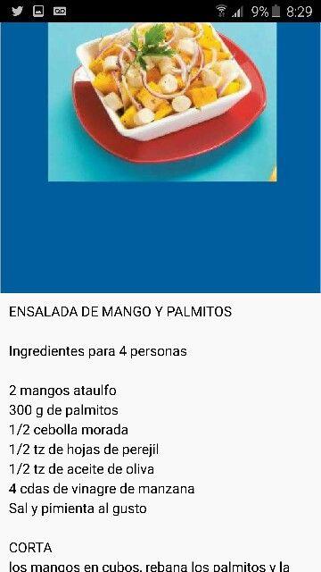 Mango y palmitos