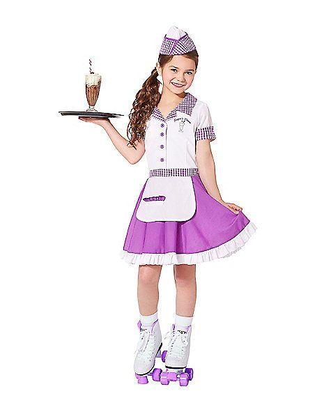 3071d952c27bd Soda Pop Cutie Waitress Girls Costume - Spirithalloween.com ...