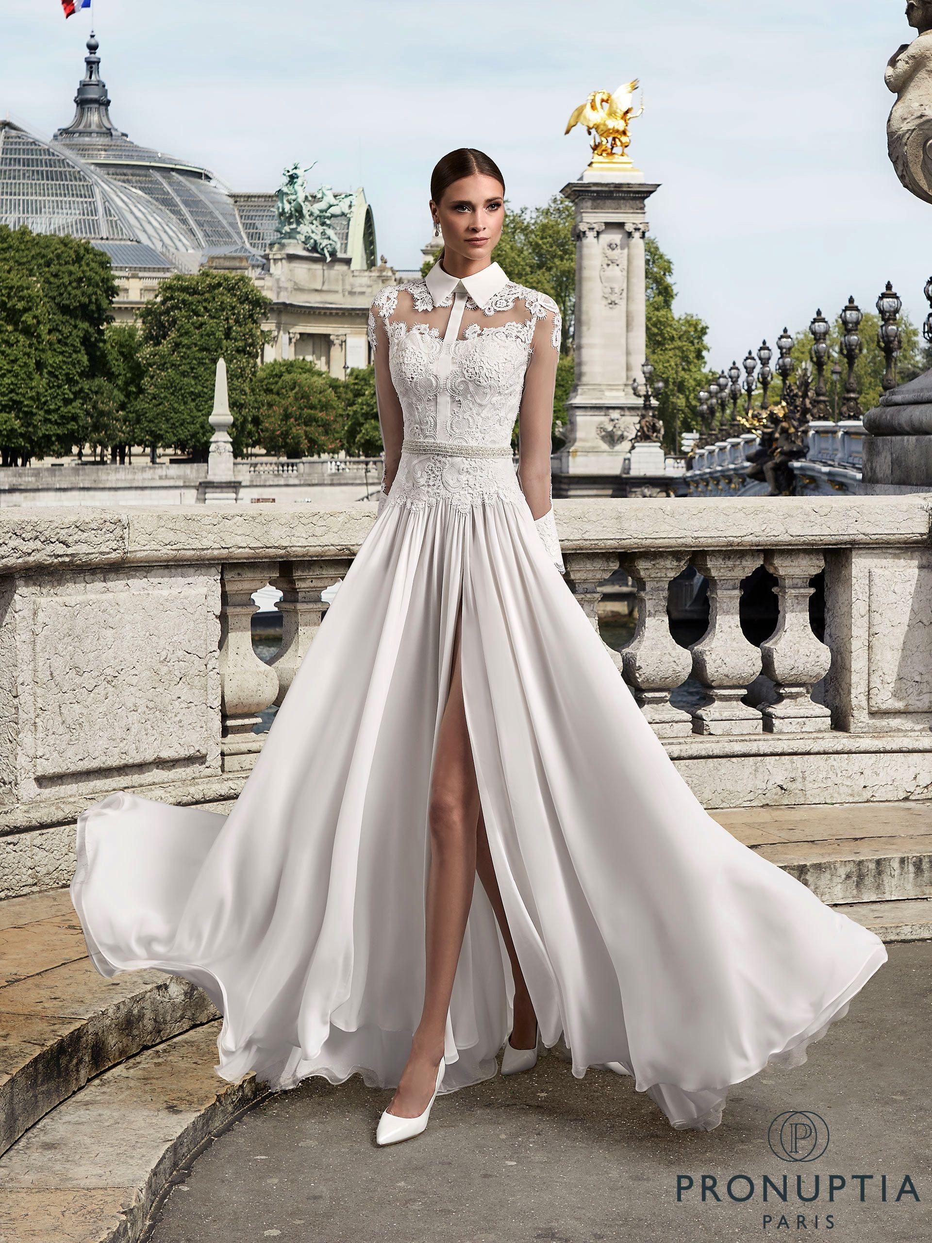 Robe de mariée Trinité, robe de mariée dentelle, robe de mariée chemisier -  Pronuptia fe741ab5e71