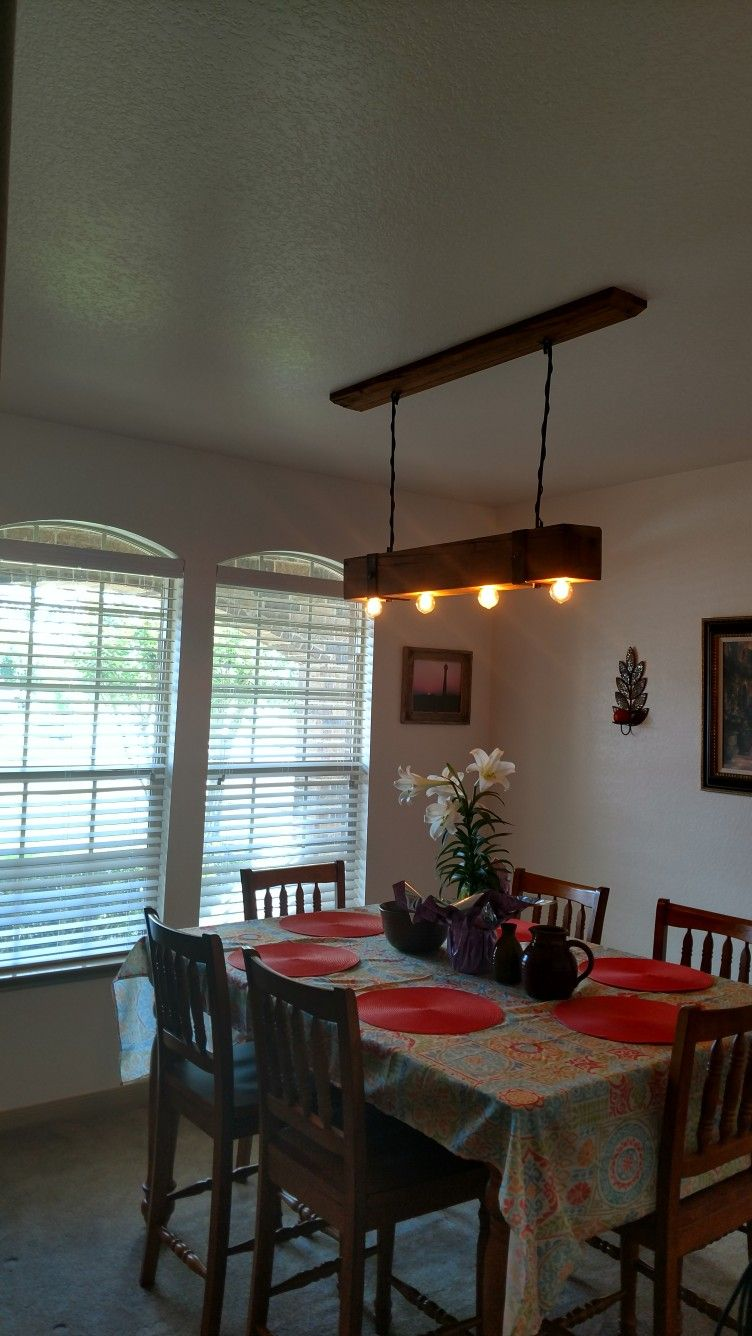 A New Custom Made Dining Room Light The Beam Used For This Is Over 50 Years OldYear