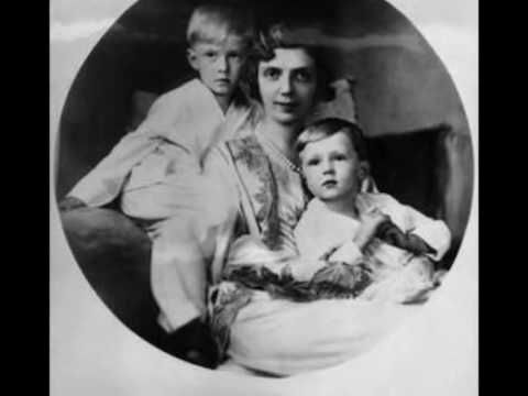 Princess Mafalda of Hesse-Kassel (nee of Italy), wife of Prince Phillip, with their 2 eldest children Prince Moritz (left) and Prince Heinrich.