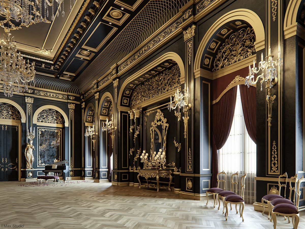 Interior design companies luxury interior design palace interior - Mixing Between Gold Black Color In Luxury Style Find This Pin And More On Interior Designs