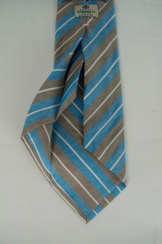 59f29cd4d75df4 Borrelli Napoli 7 Fold Silk Tie Handmade in Italy
