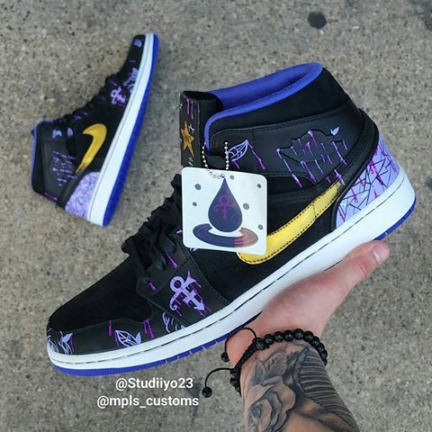 quality design 85e07 8d801 r.I.p  prince Purple rain dripping from the abstract floral with a stained  glass heel Hang tag from  speezycustomz