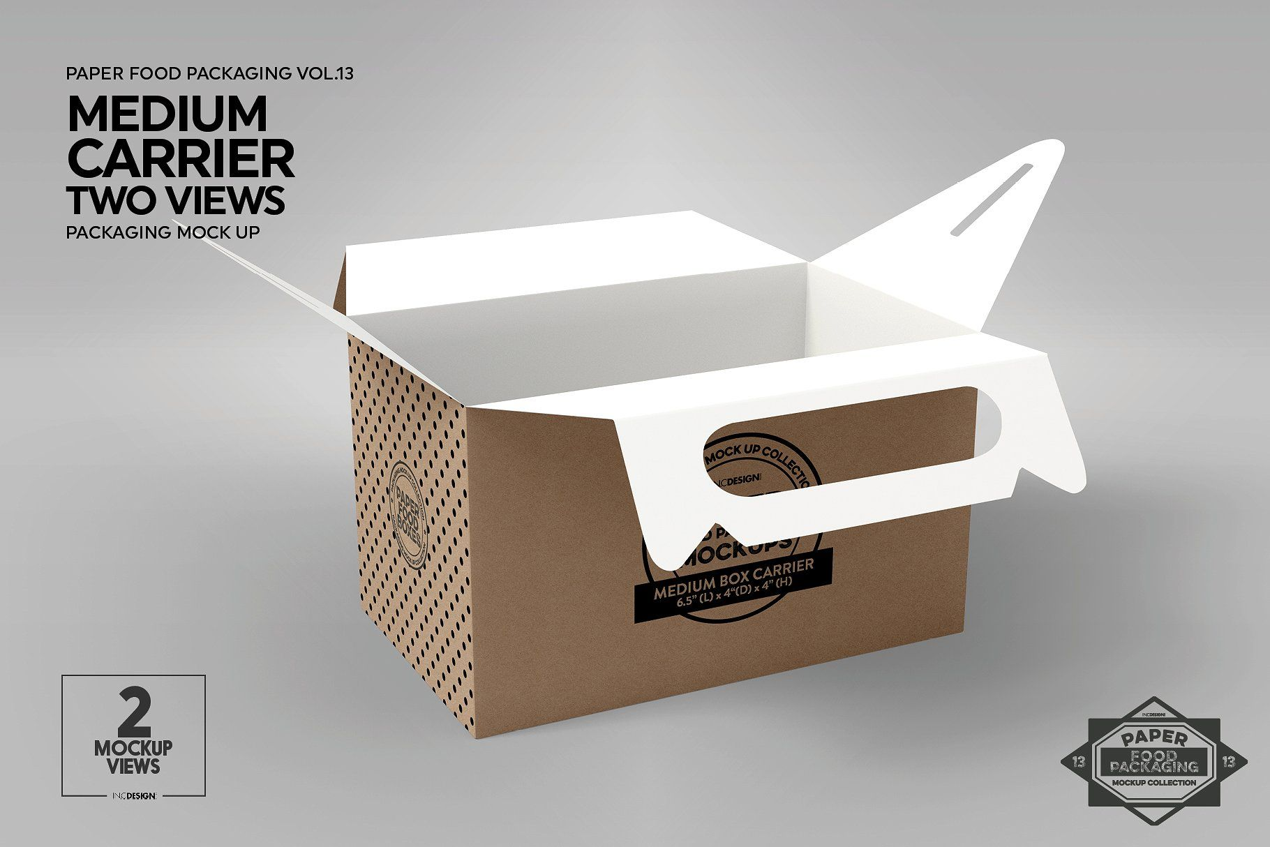 Download Medium Box Carrier Packaging Mockup Packaging Mockup Free Packaging Mockup Branding Template