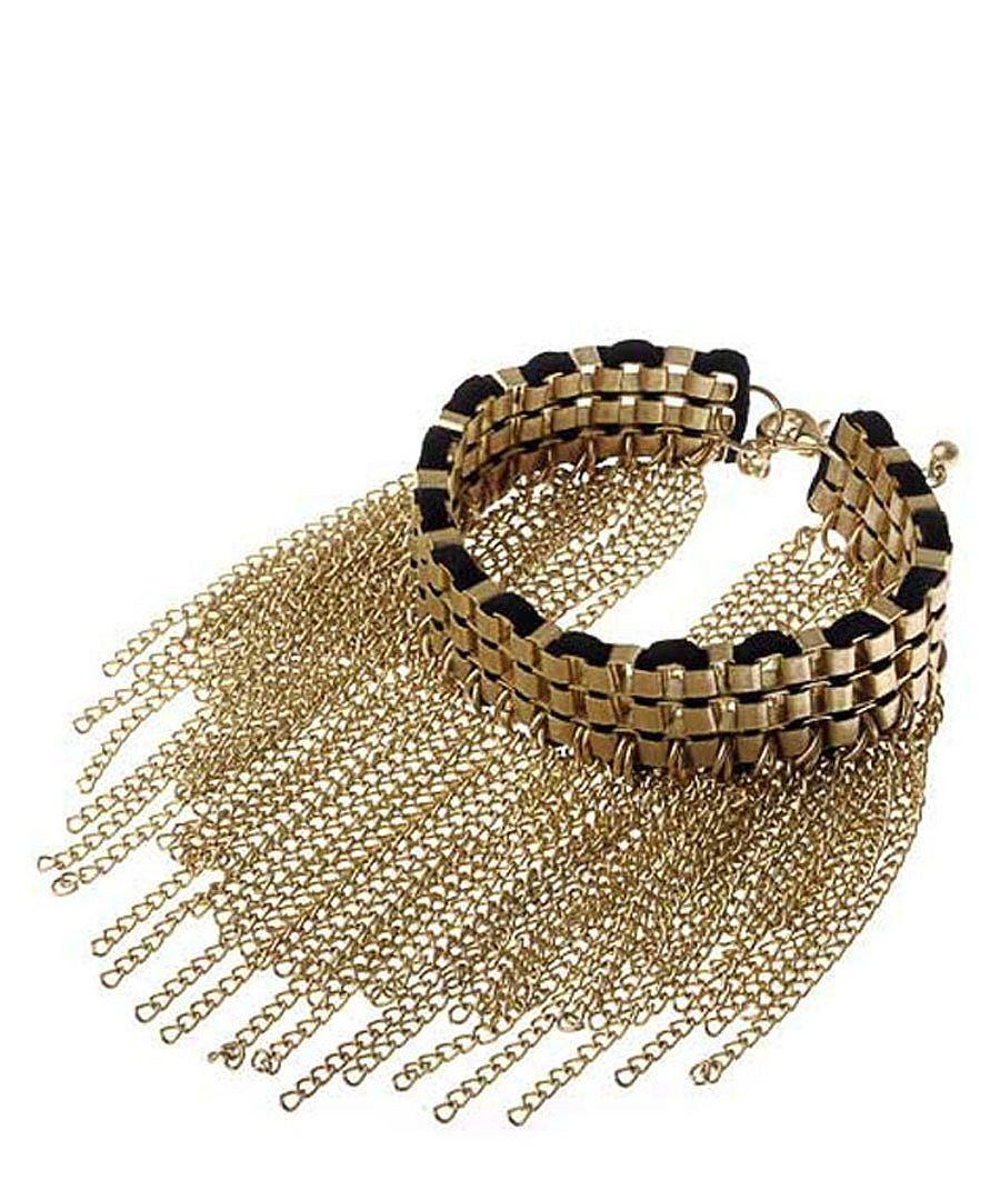 Alexa Rock chic bracelet in gold Sale - Jeminee