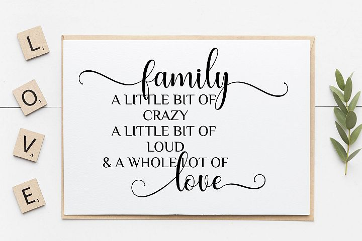 Download Family Little Bit Crazy svg, funny family wall decal svg ...