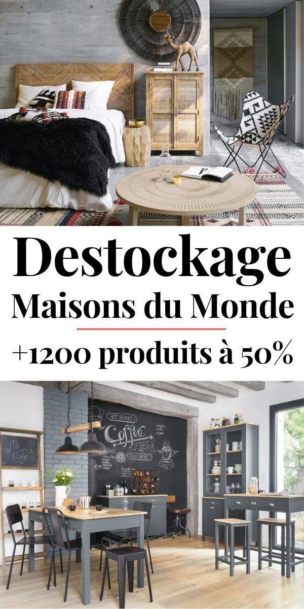 Destockage Maisons Du Monde De 1200 Produits Deco Et Mobilier Jusqu A 50 In 2020 Country Dining Rooms Escalier Design Small Dining Table
