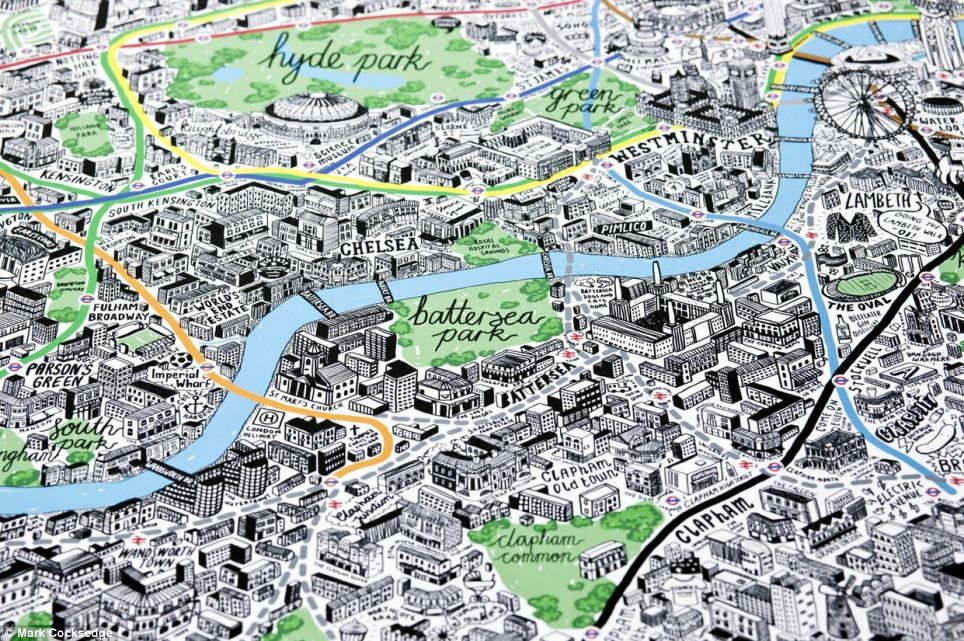 Easy London Map.You Ll Be Drawn To London Artist Sketches Quirky Map Of The Capital