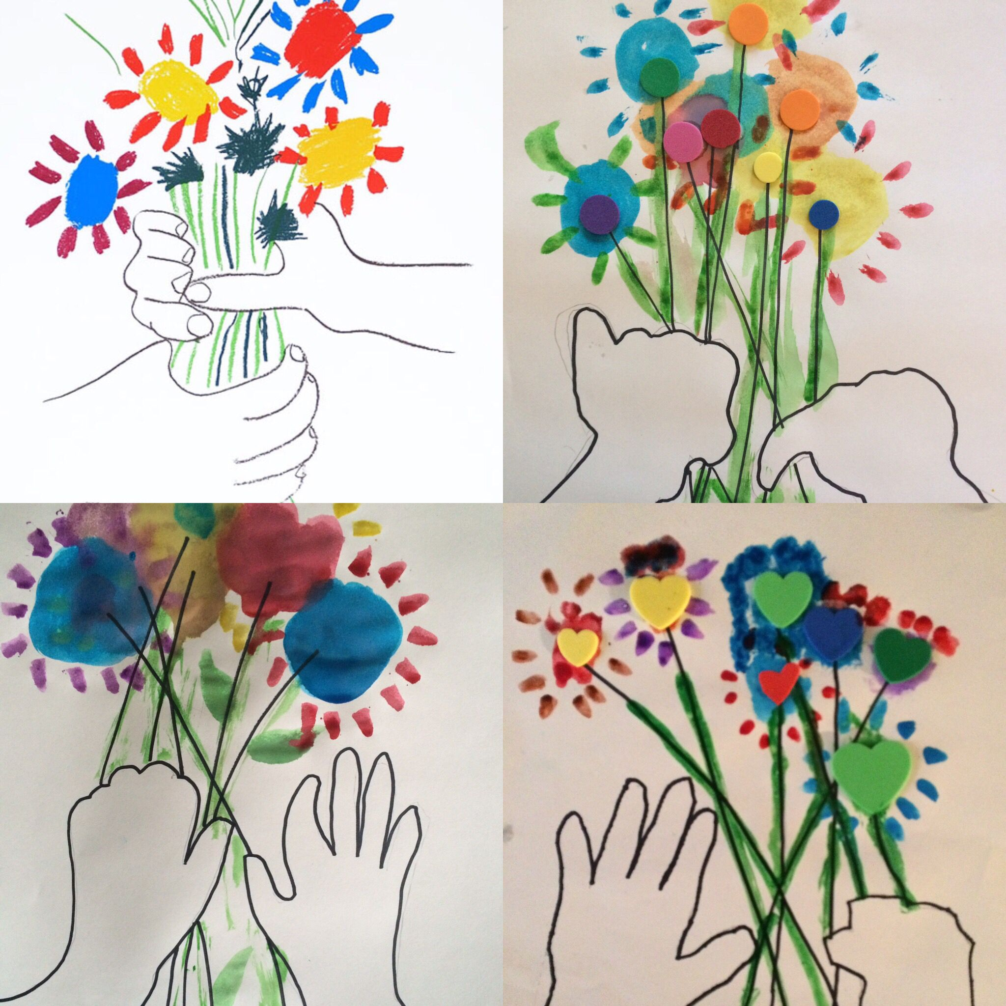 New Art Therapy Project Picasso S Hands With Flowers 1 Trace
