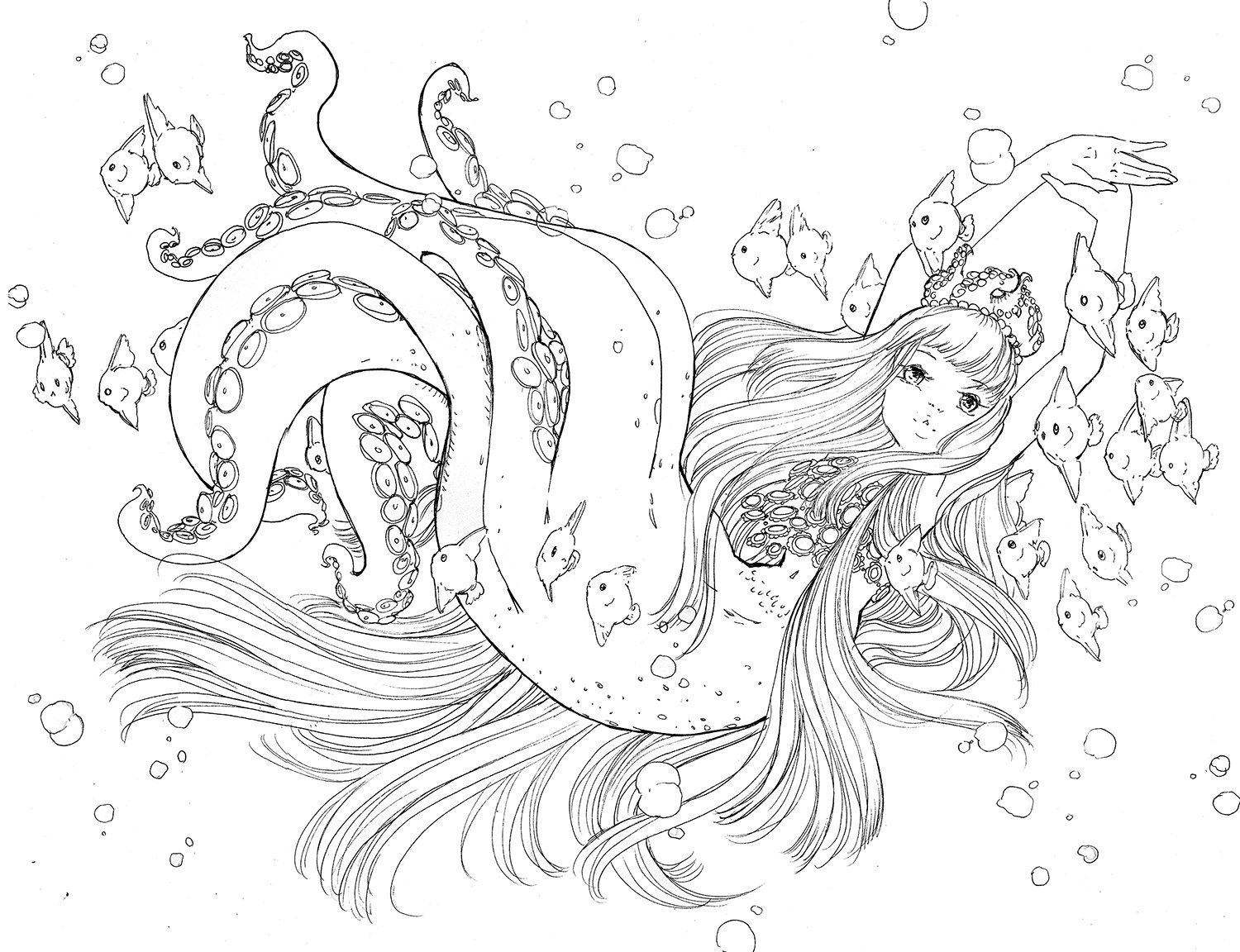 All Artwork Is C 2007 2018 Camilla D Errico For Purchase Inquiries Please Contact Info Camill Mermaid Coloring Book Manga Coloring Book Mermaid Coloring Pages