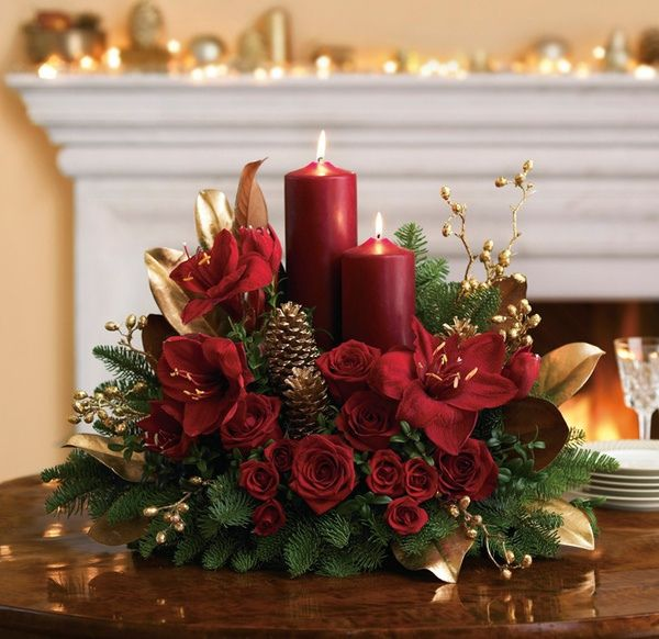 Candlelit Christmas Centerpiece by Teleflora, via Flickr | Floral ...