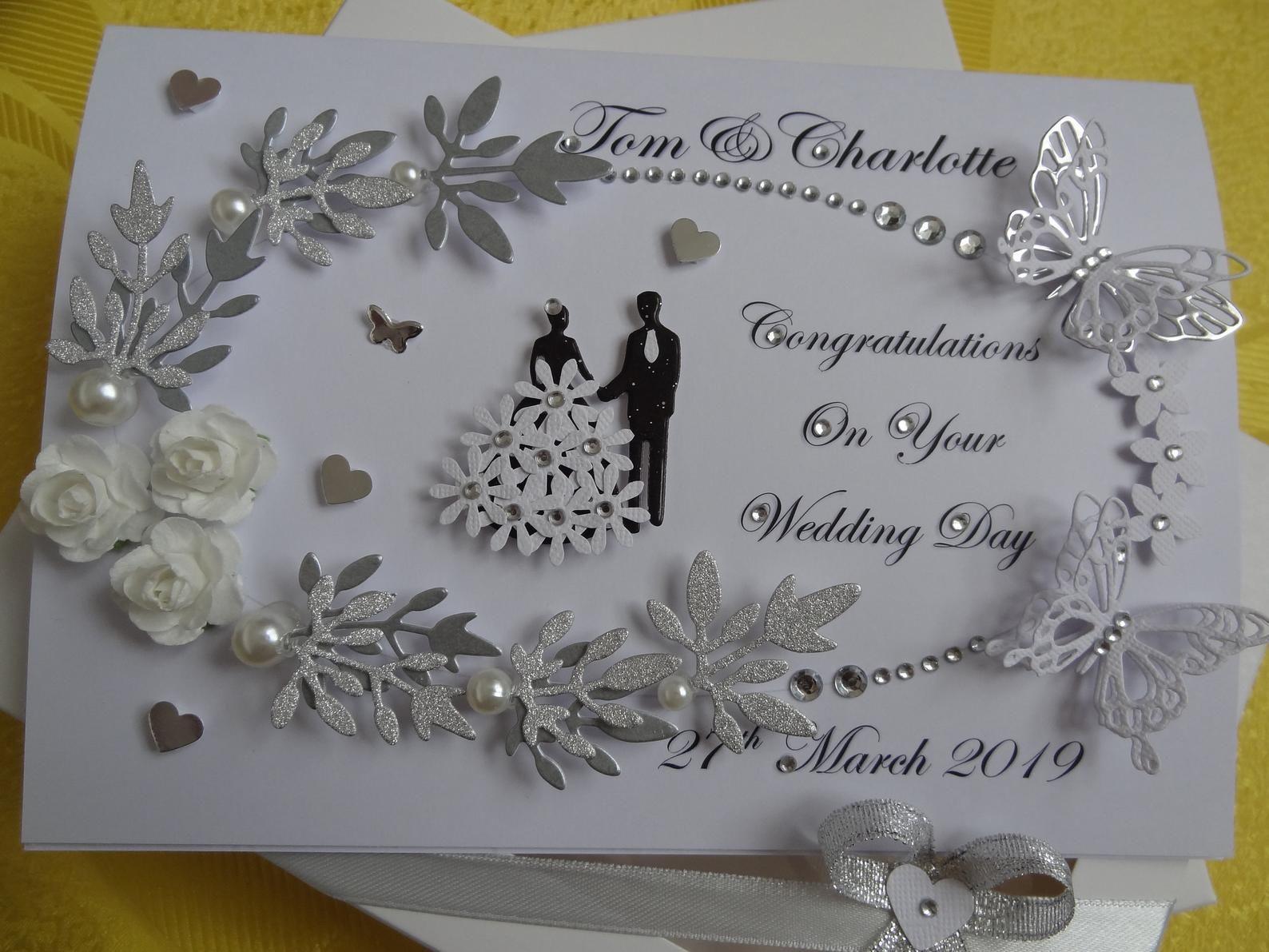 Personalised Luxury Handmade Wedding Card Anniversary Card With Gift Box Wedding Cards Handmade Anniversary Cards Handmade Card Making