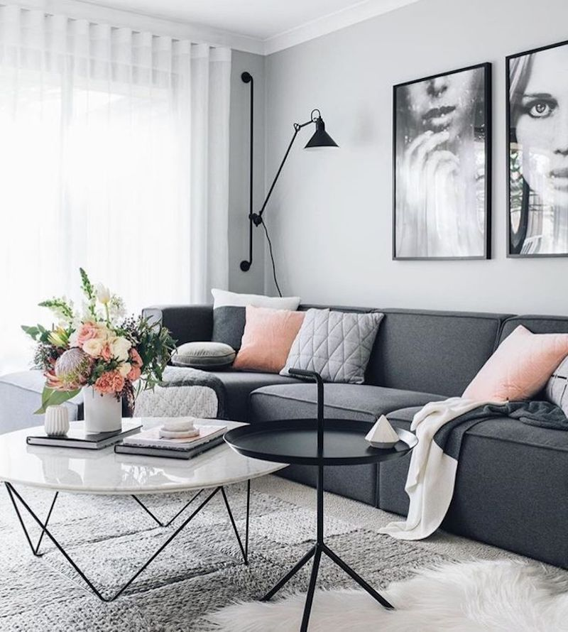 10 Best Dark Gray Sofas You Can Find Online Scandinavian Design Living Room Living Room Scandinavian Living Room Grey