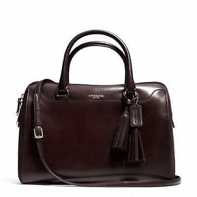 Coach $698 RETAIL BAG NWT Legacy Haley Chocolate Brown Leather/Suede Bag 25319