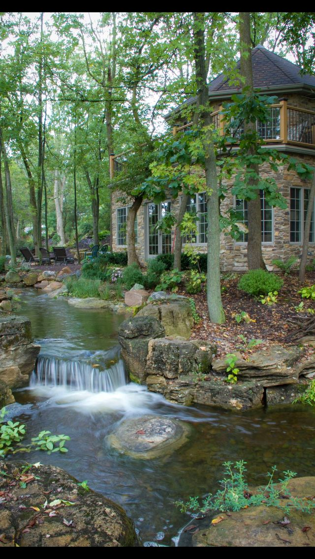 Backyard pond | Waterfalls backyard, Ponds backyard ...