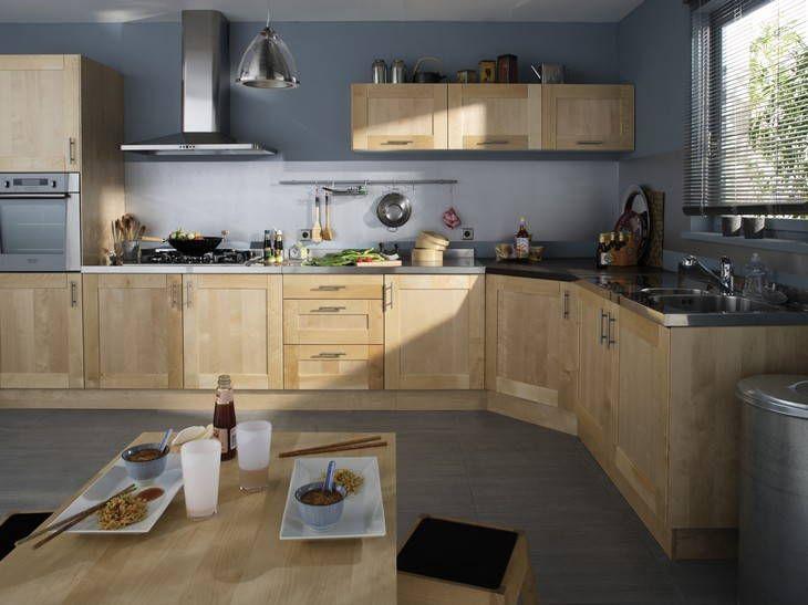 Cuisine Leroy Merlin Grande Cuisine En Bois De Chez Leroy Merlin - Meuble de cuisine bricoman pour idees de deco de cuisine
