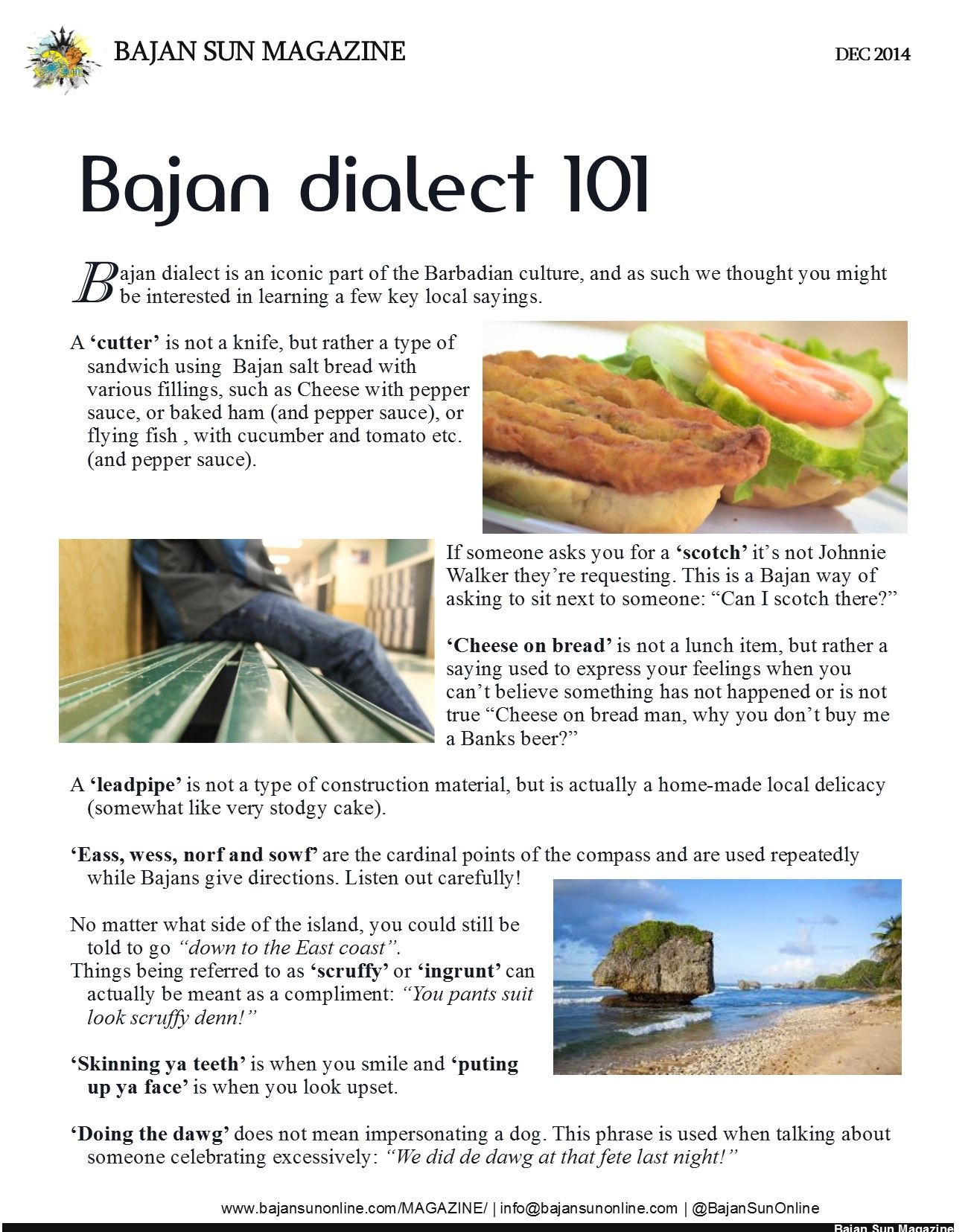Bajan Dialect Types Of Sandwiches Dialect