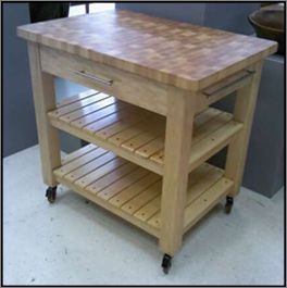 Butcher Block Kitchen Prep Station Diy Kitchen Projects Diy Kitchen Furniture Kitchen Table Makeover