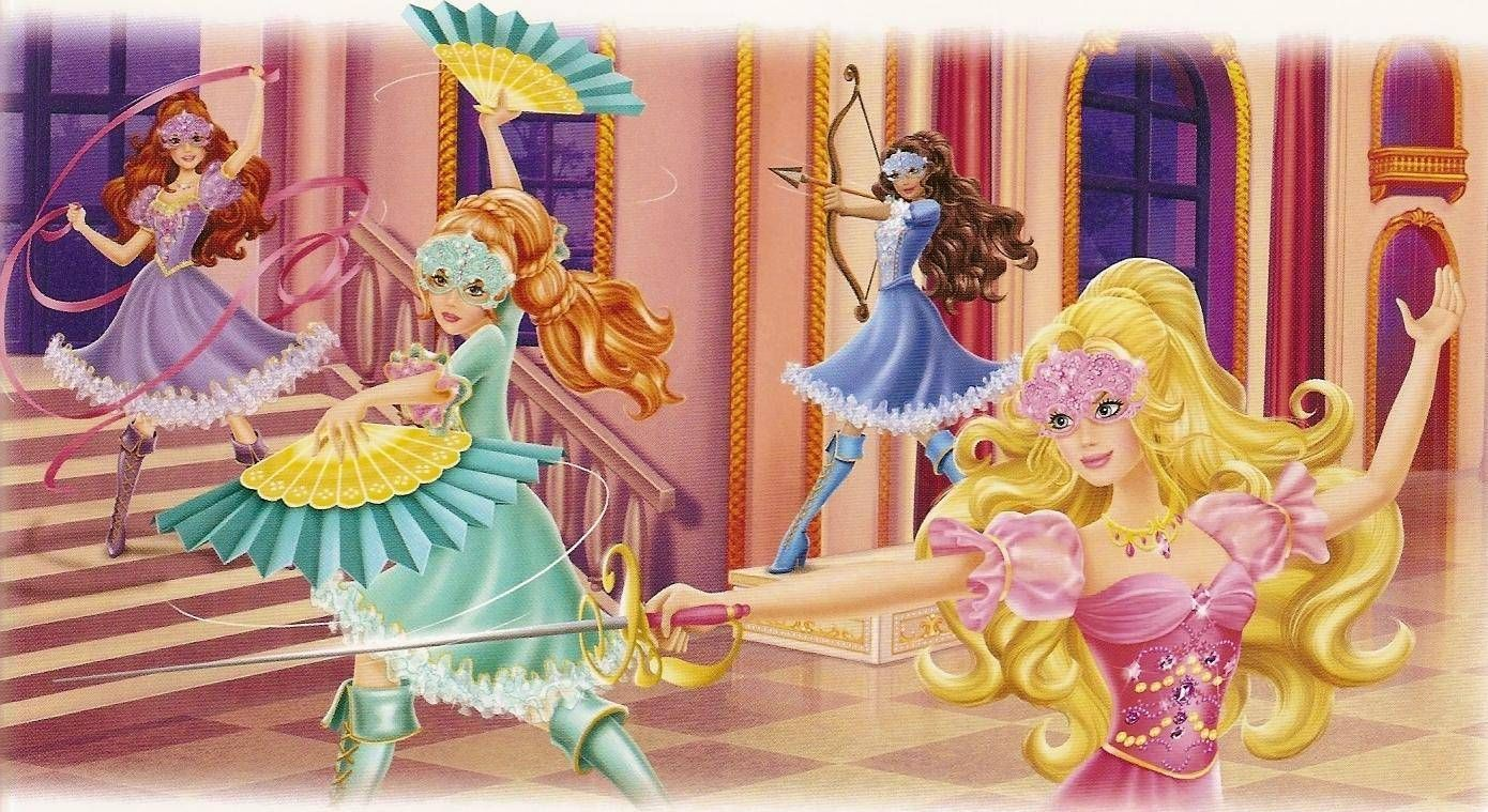 Barbie and the three musketeers wallpaper 3 บารบ