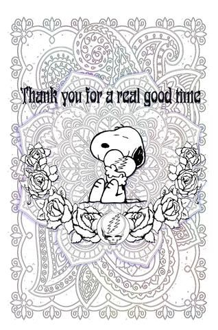 Sugarmaggies Groovy Grateful Coloring Pages Grateful Dead Poster
