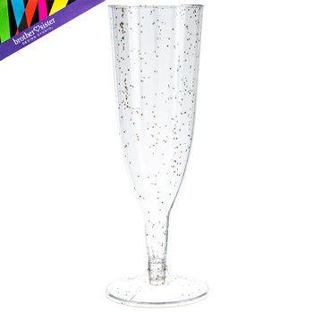 Glitter Plastic Toasting Flutes