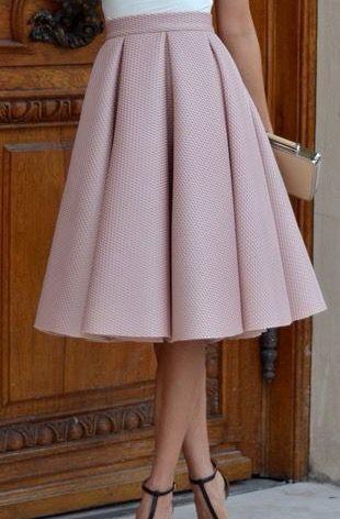 e56d365e4 Falda con tablones circular | Fa$hion | Faldas, Vestidos y Falda de ...