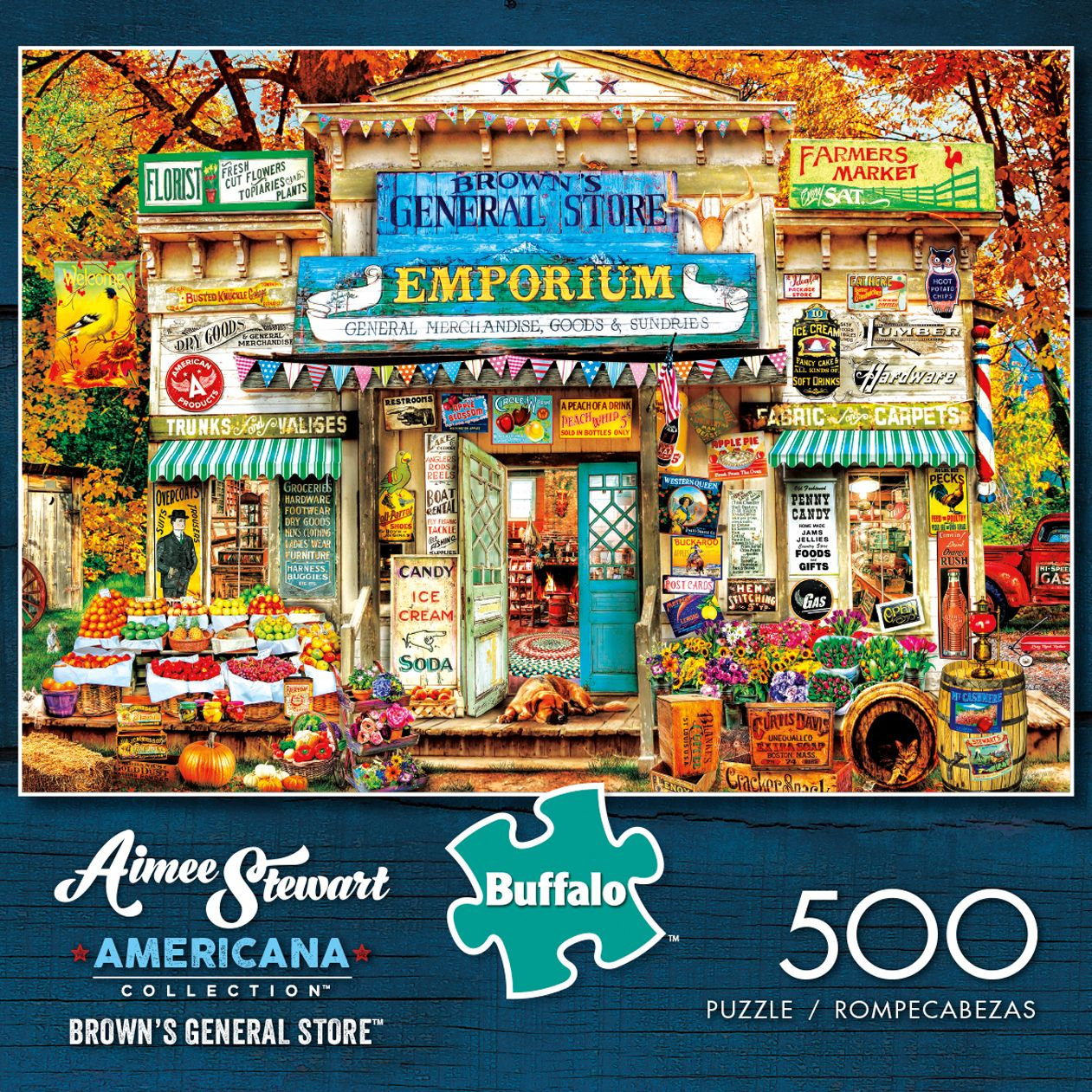 Aimee Stewart Americana Collection Brown S General Store 500 Piece