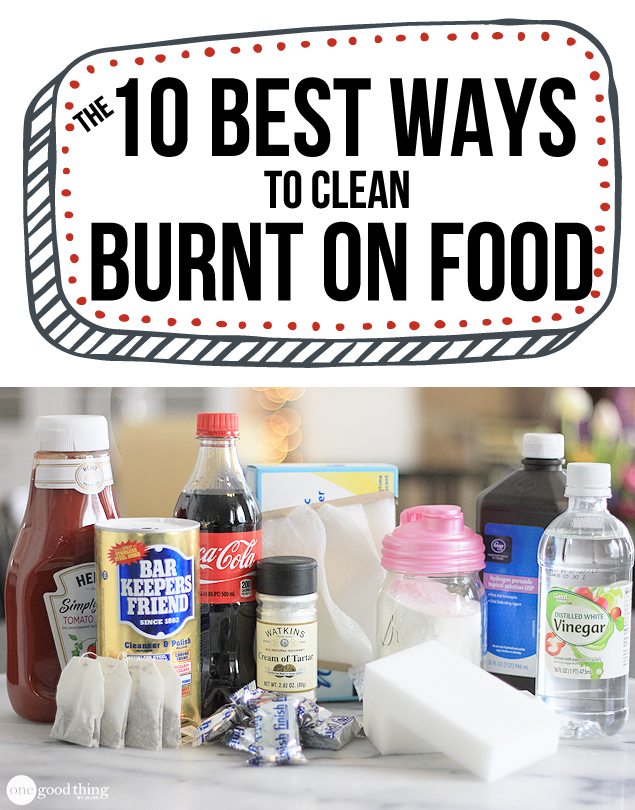 the 10 best ways to clean burnt on food from your pots and