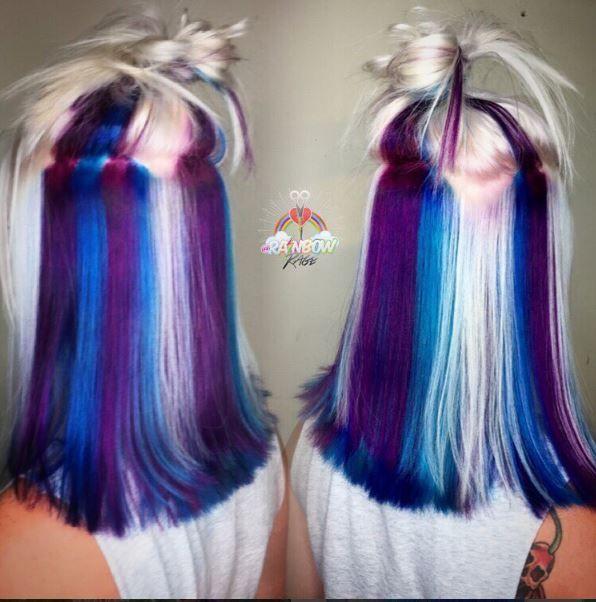 Cheveux arcenciel La nouvelle tendance coiffure 2016