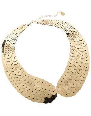 collier col doré métallisé de claire's