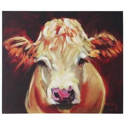 Maggie Moo Cow Canvas - Gin Creek Kitchen