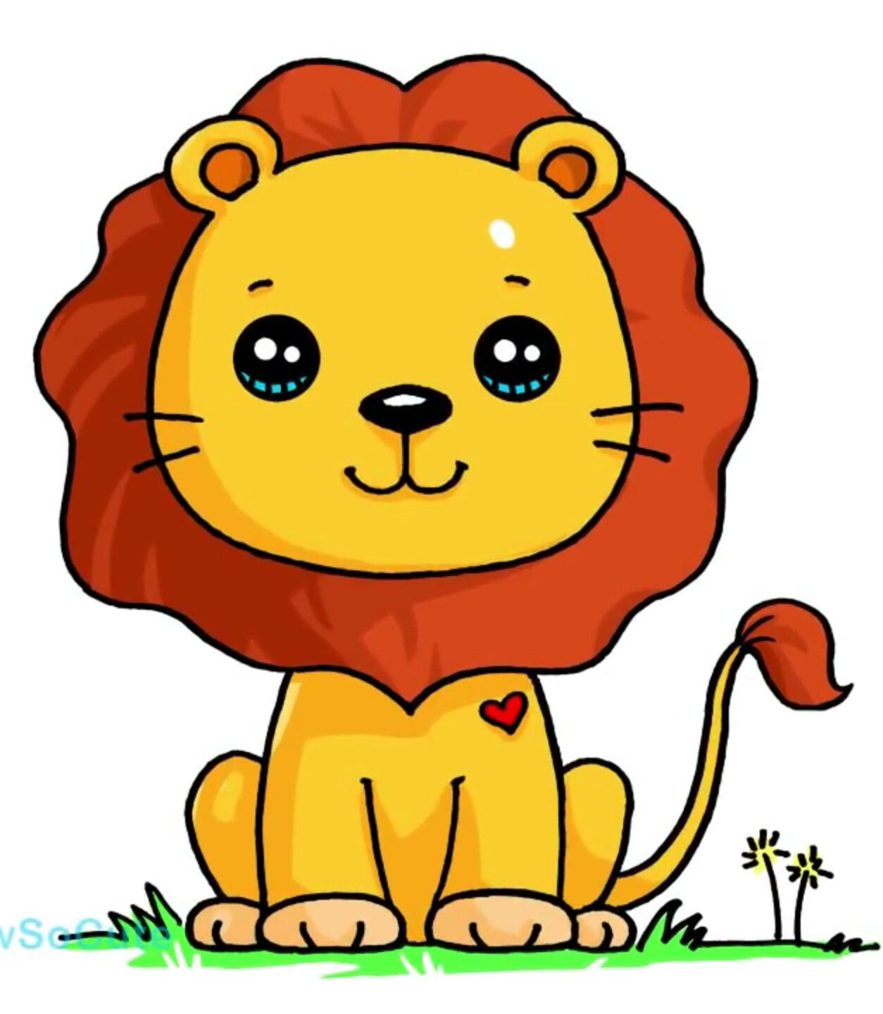 Lion Dsc Dibujos Kawaii De Animales