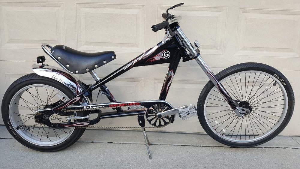 Schwinn Stingray Bike Occ Chopper Black Chrome 20 Occ Choppers Schwinn Bicycle