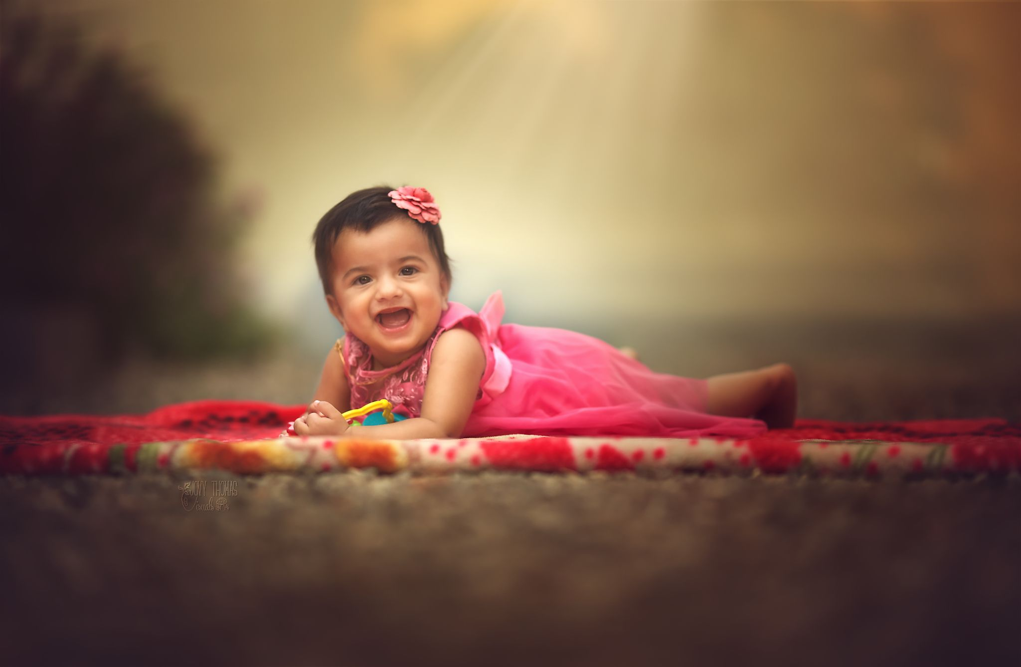 A smiling flower!! Baby photography India, by Baby