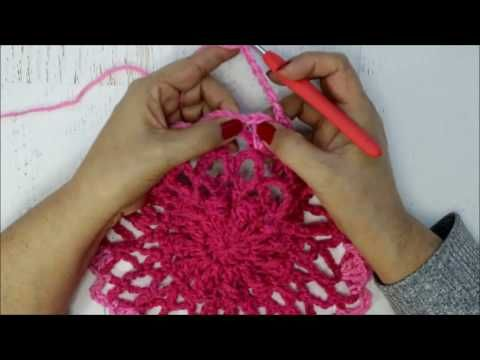 Crochet Lotus Mandala Circular Vest Tutorial Youtube Crochet