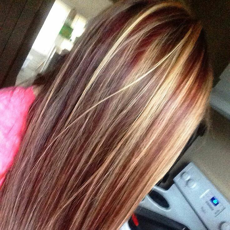 Fall color | Brown blonde hair, Hair styles, Burgundy hair