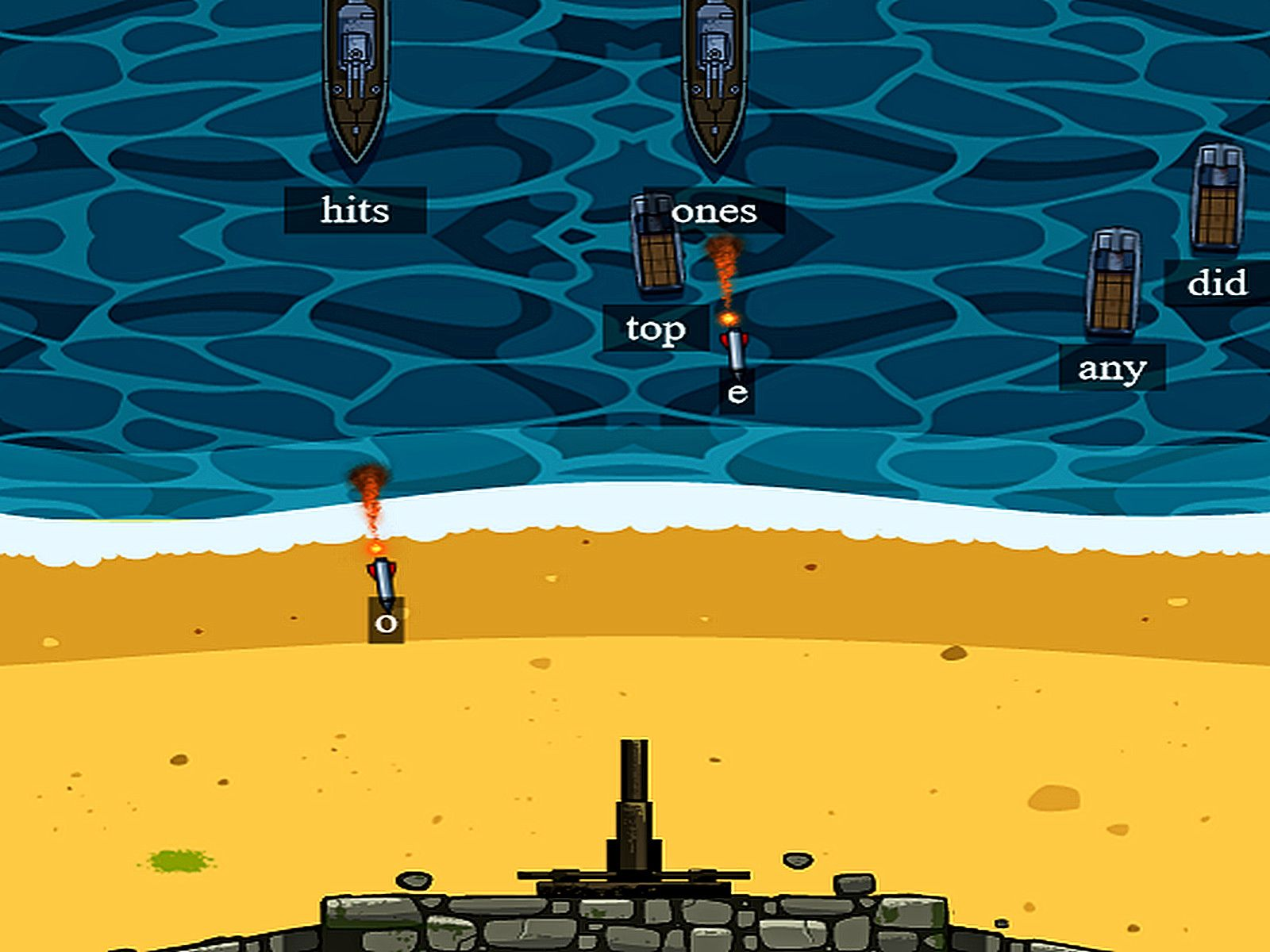 New Video Game Releases Defend The Beach Typing Sound the alarm