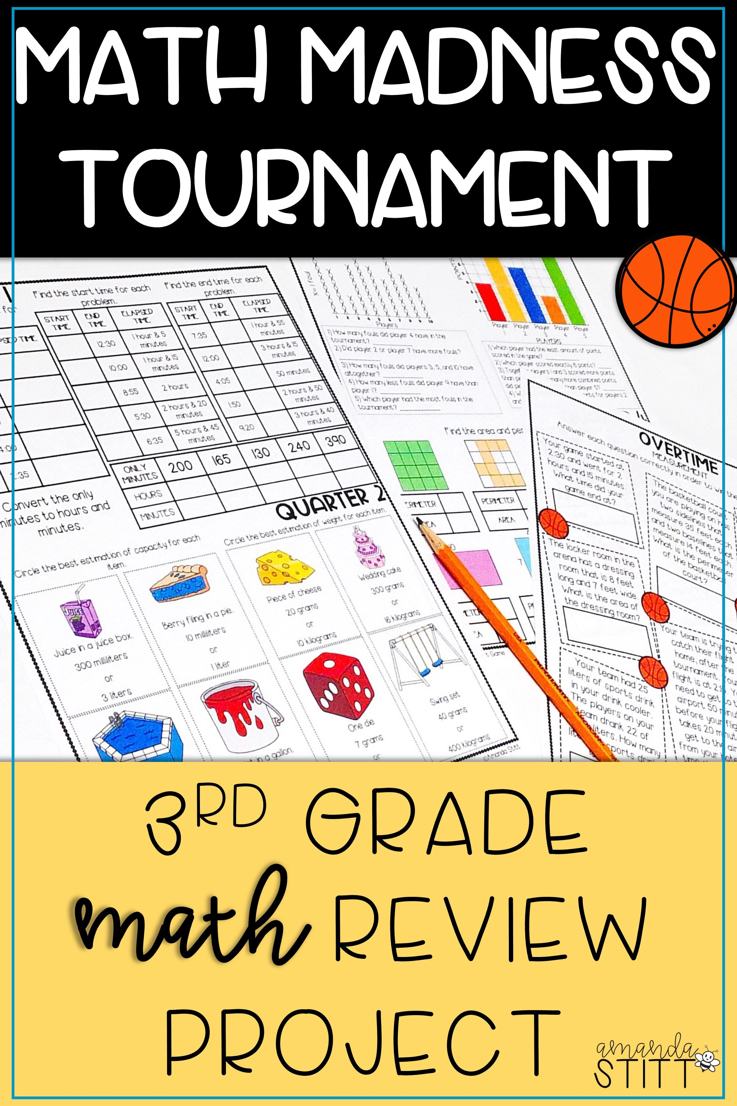 March Madness Math Review Packet