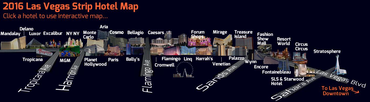 Las Vegas Hotel Strip Map 2016 Interactive Vegas Strip Map Las