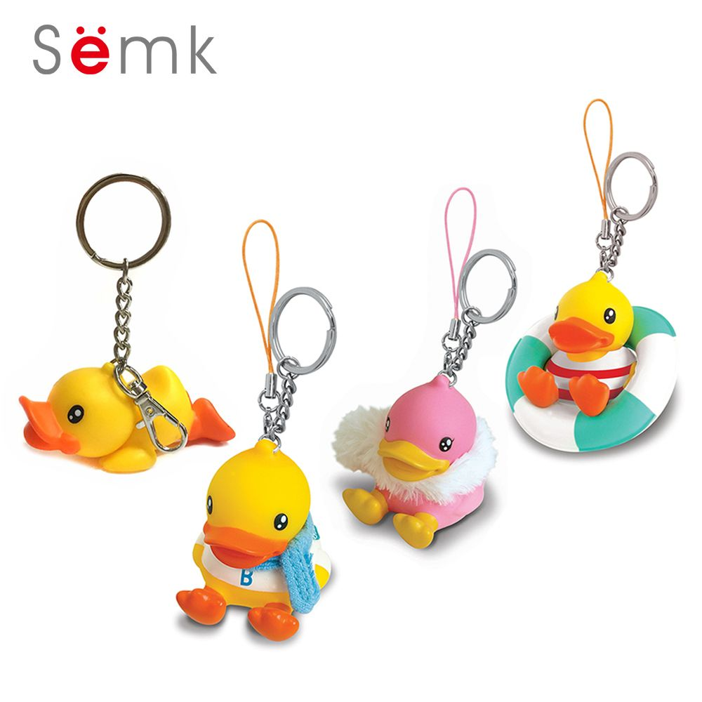 Toys car keys  Semk Anime Figure Duck Keychain PVC Action Figure Mini Dolls