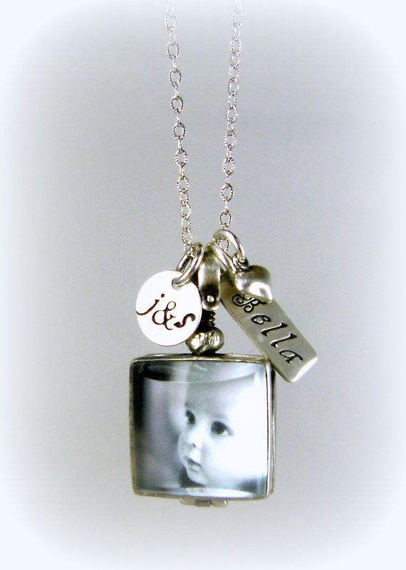 Glass locket new mom jewelry initials new baby jewelry new glass locket new mom jewelry initials new baby jewelry new parents necklace sterling mom dad initial personalized negle Image collections