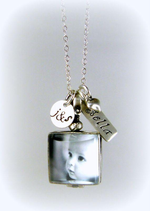 Personalized Memory Locket New Mom Jewelry Gift Custom